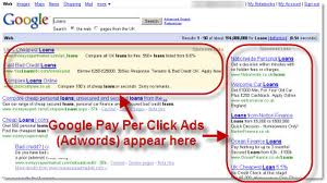Google Pay Per Click Advertising Screenshot Sample