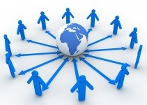 Viral Marketing Examples - spread of people in dummy format around internet logo