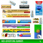 Internet banner advertising screen illustration