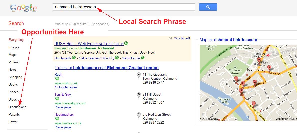Google Places Citations - screenshot demo on how to benefit from it.