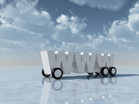 World Wide Web logo on wheels to illustrate how to reduce bounce rate to increase website conversions.